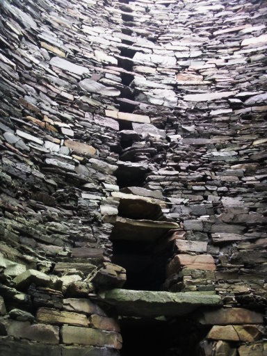 Inside the broch at Mousa